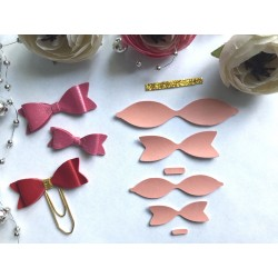 Заготовка для бантика, 2 шт - Персиковый матовый
