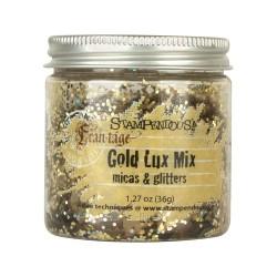 Глиттер микс (золото) - Micas & Glitters Lux Mix - Stampendous