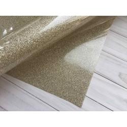 Термотрансферная плёнка Glitter (10х25 см) - Светлое золото