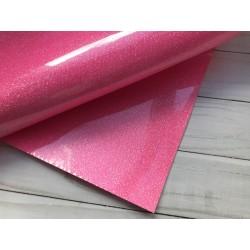 Термотрансферная плёнка Glitter (10х25 см) - Fluor Pink