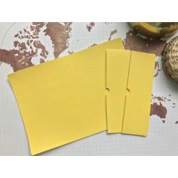 Заготовка для обложки на паспорт - Жёлтый (питон)