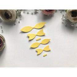 Заготовка для бантика, 2 шт - Жёлтый фактурный (питон)