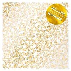 Калька (веллум) - Golden butterflies - Фабрика Декору