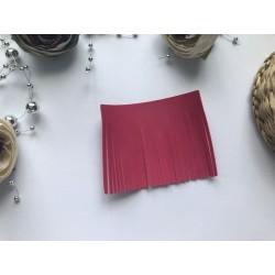 Заготовка из кожзама 70х55 мм - Ярко-розовый глянцевый №303