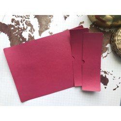 Заготовка для обложки на паспорт - Ярко-розовый №303