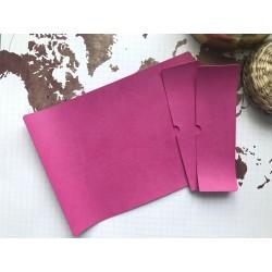 Заготовка для обложки на паспорт - Розовая фуксия №215