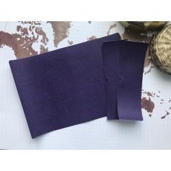 Заготовка для обложки на паспорт - Фиолетовый питон №501
