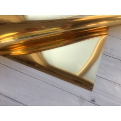 Термотрансферная плёнка Flex Foil (10х25 см) - Gold