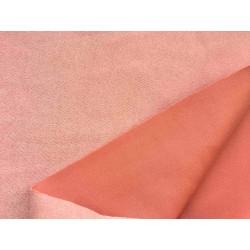 Замша иск. (на дайвинге) №412 - Пудрово-персиковый, 25х37 см
