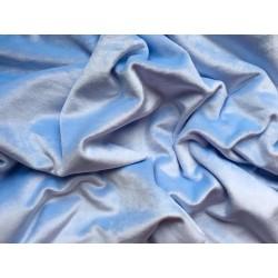 Велюр/плюш стрейч №701 - Голубой, 25х37 см