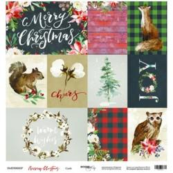 Лист бумаги Cards - Merry Christmas - Scrapmir