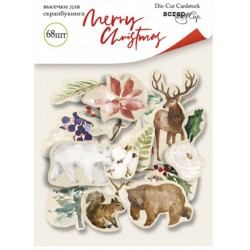 Высечки 68 шт - Merry Christmas - Scrapmir