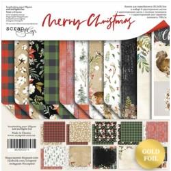 Набор бумаги 30х30 см - Merry Christmas - Scrapmir
