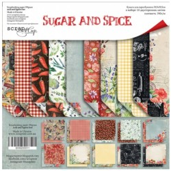 Набор бумаги 30х30 см - Sugar and Spice - Scrapmir
