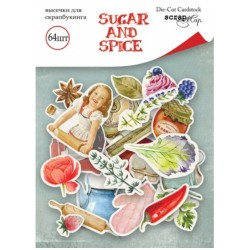 Высечки, 64 шт - Sugar and Spice - Scrapmir