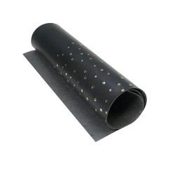 Отрез кожзама с тиснением 25х50 см - Golden maxi drops black