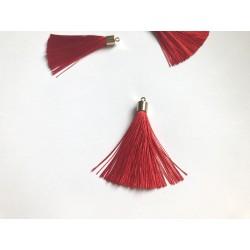 Кисточка шёлковая, 55 мм - Красный