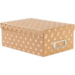 Коробка - Kraft W/Gold Dots - DCWV