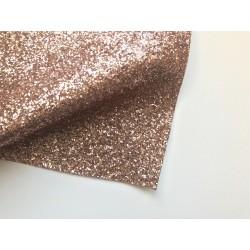 Ткань с крупным глиттером, 26х35 см - Розовое золото