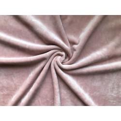 Велюр/плюш стрейч №705 - Розовая пудра, 25х36 см