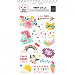 Натирки Rub-Ons Girl - Wild Child - Pink Paislee