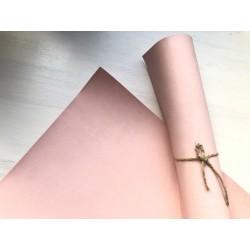 Кожзам переплётный (матовый). Пудрово-розовый, 25х35 см