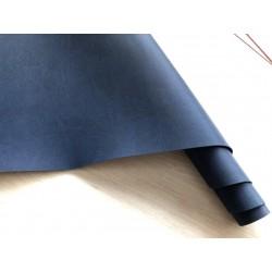 Кожзам текстурный ребристый (тёмно-синий), 25х35 см