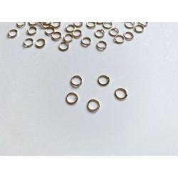 Соединительное кольцо, 6 мм - Старое золото (5 шт)