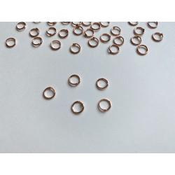 Соединительное кольцо, 6 мм - Розовое золото (5 шт)