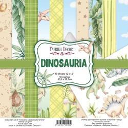 Набор скрапбумаги 30x30 см - Dinosauria - Фабрика Декору