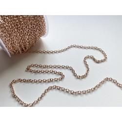 Цепочка 2 мм (розовое золото) - 10 см