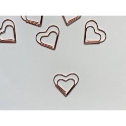 "Скрепка ""сердечко"" 3 см - Розовое золото"