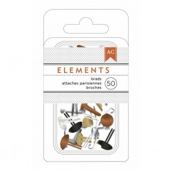 Брадсы Metallics 3/16' (10 шт) - American Crafts