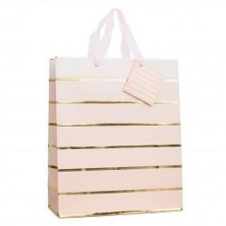 Пакет подарочный с золотыми полосками