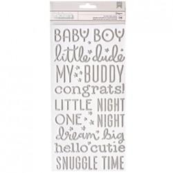 Наклейки-слова Silver Foil (boy) - PB