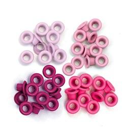 Люверсы в наборе (розовые) - WRMK